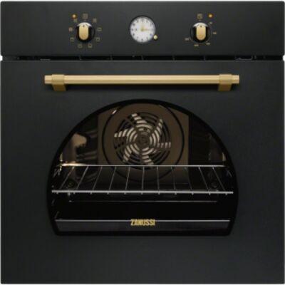 Zanussi ZOB33701CR fekete rusztikus sütő, 74 literes sütőtérrel