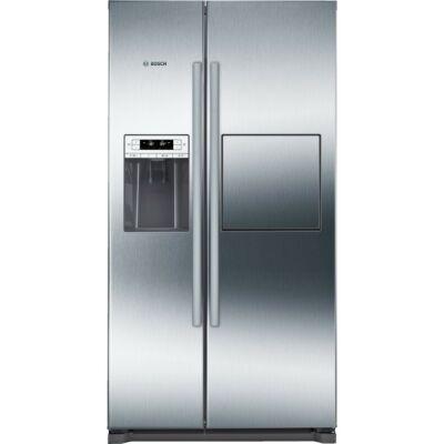 Bosch KAG90AI20 Side By Side amerikai hűtő, minibár. NoFrost, jégkészítés, nemesacél ajtók, 91 cm széles