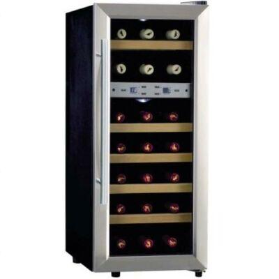 Caso Wineduett 21 palackos borhűtő, C energia osztály, 2 zóna, fa polcokkal
