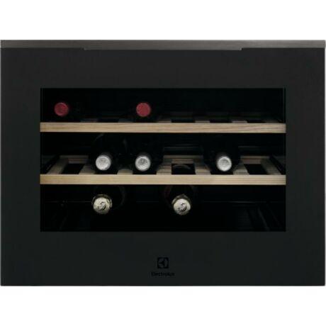 Electrolux KBW5T Beépíthető borhűtő, 18 palack, 45 cm (MATT FEKETE)