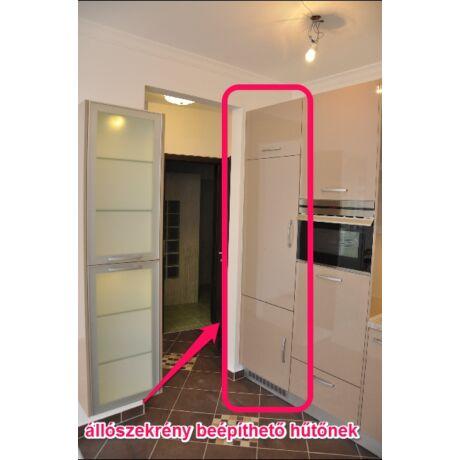 Modern konyhabútor, elemenként összeszerelhető, hűtős állószekrény, 60cm széles