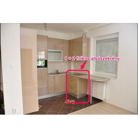 Modern konyhabútor, elemenként összeszerelhető, 1+2 fiókos alsó, több szélességben