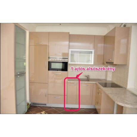 Modern konyhabútor, elemenként összeszerelhető, 1 ajtós alsó, több méretben